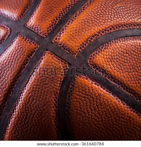 a fragment of a basketball ball - stock photo
