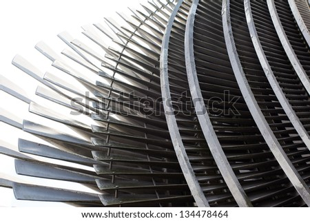 A  Fragment of a steam turbine - stock photo
