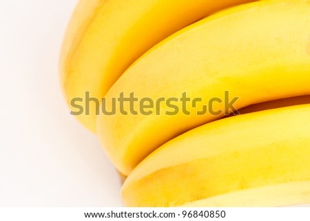 A fragment of bunch of ripe bananas