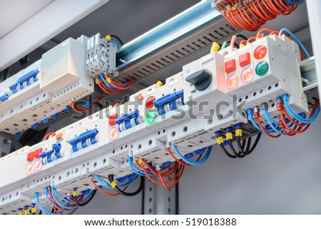 fuse box stock images royalty images vectors shutterstock a fragment of circuit in the power control cabinet industrial abstract background