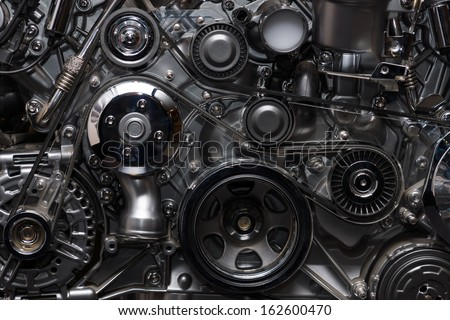A fragment of the engine - stock photo