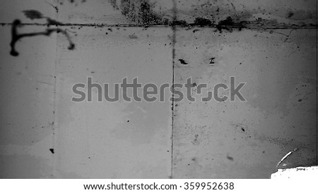 A frame of film leader with dirt, dust and scratches. - stock photo