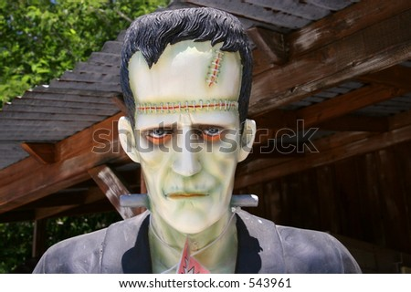 A Frankenstein statue on sale at Charlie Brown Farms, a gift and souvenir shop on the Pearblossom Highway in Littlerock, California, in the Antelope Valley.