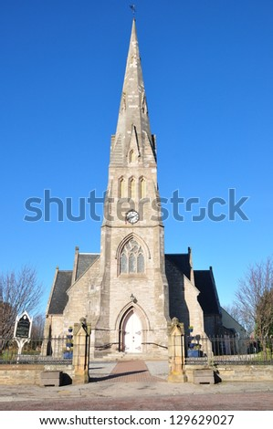 A Free Church in Invergordon, a small town in east of Scotland on a lovely day of February 20, 2013