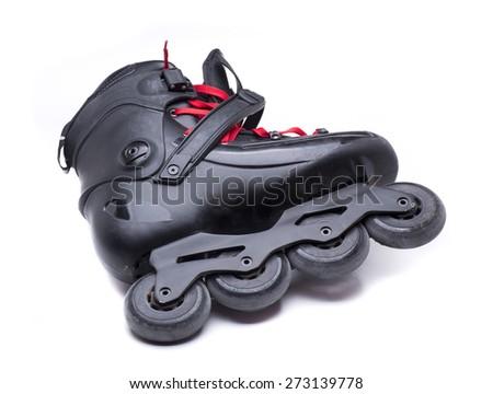 a freeskate, special skates to skate around town - stock photo
