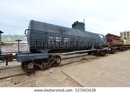 A freight carriage used for Petroleum.