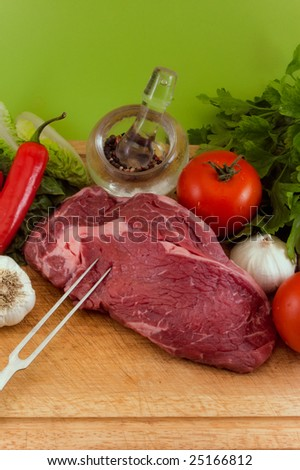 a french entrecote / steak / with decoration