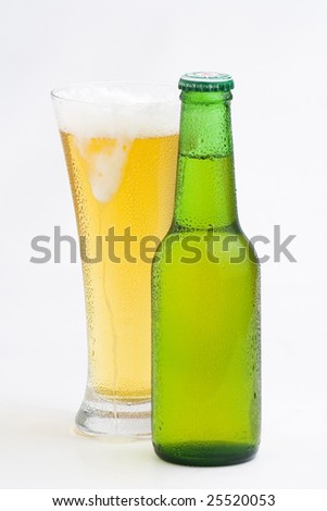 a fresh cold and tasty beer isolated