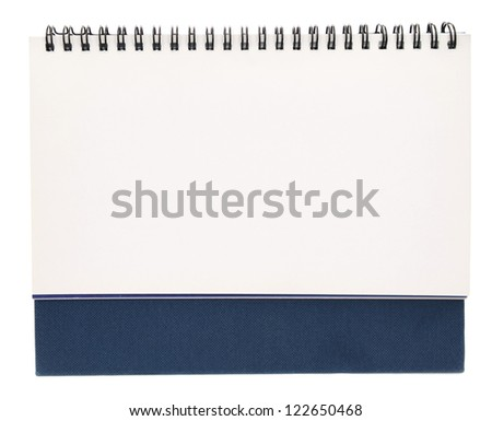 A front of blank white binder book - stock photo