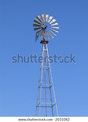 A Front View Of A Windmill