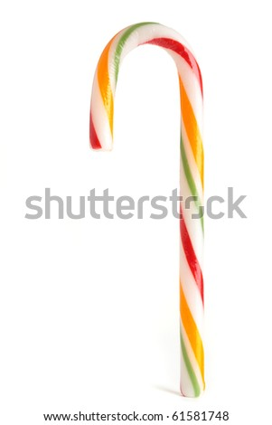 A fruit flavored candy cane xmas treat. - stock photo