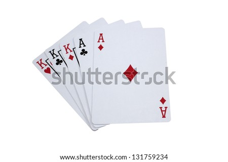 A Full House of Kings and Aces - stock photo