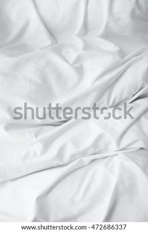 A full page of white creased comforter texture