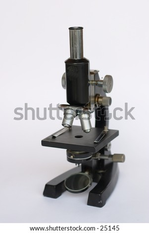 A full-size microscope, for use in education, research or medicine.