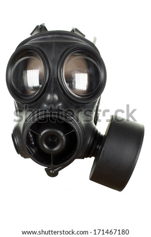 a gas mask on a mannequin head
