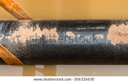 A gas pipes outdoor on background.