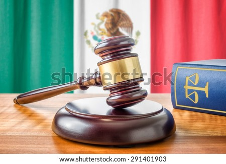 A gavel and a law book - Mexico