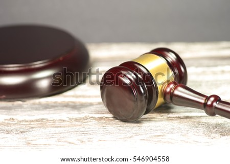 A gavel made of wood