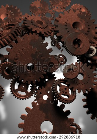 A gear was rusted - stock photo