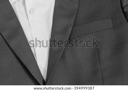 A gentlemen suit in close up and detail