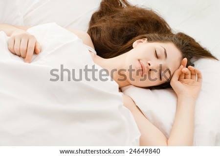 A girl is having a sleep of a just
