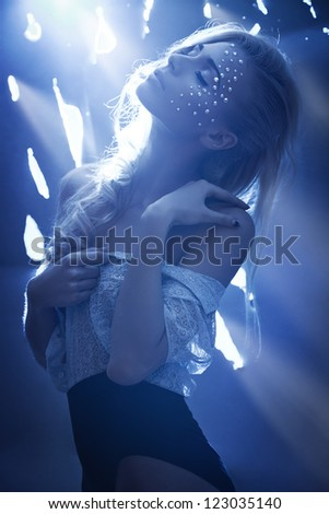 A girl like a dimond - stock photo