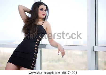 a girl near the window