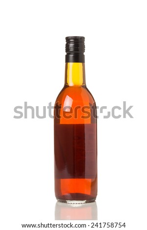 A Glass Bottle Isolated on a White Background - stock photo