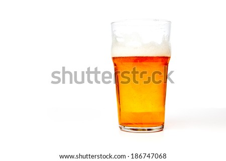 A glass of beer - stock photo