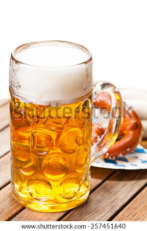 a glass of beer on isolated background