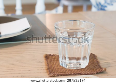 A glass of cold water - stock photo