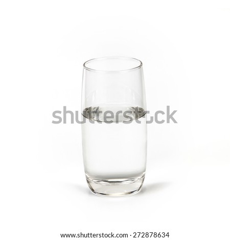 a glass of fresh drink water on white background