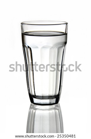 A glass of fresh water.