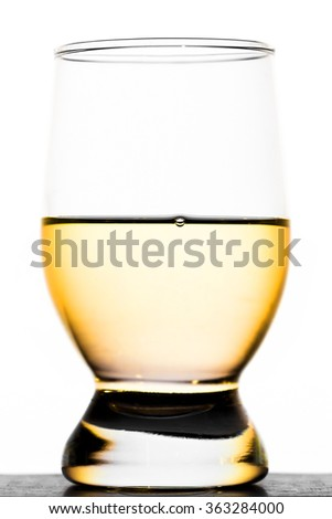 A glass of moonshine