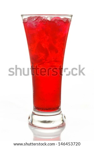 A glass of Red Soda
