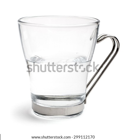 A glass of water half full
