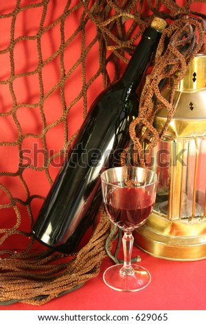 A glass of wine - stock photo