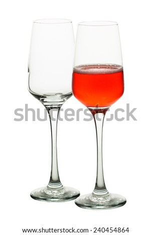 a glass of wine isolate on white background
