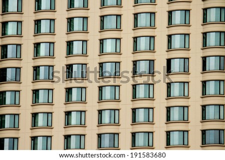 A glass windows of building