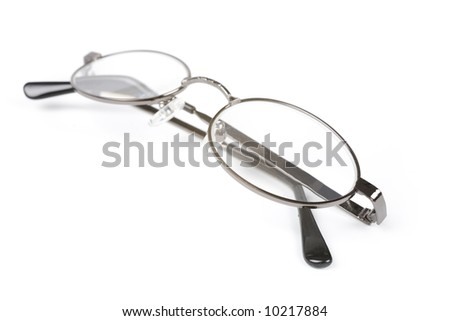 a Glasses with white background