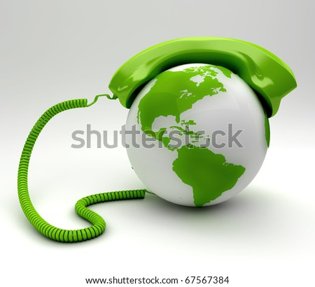 A global Communications concept - stock photo
