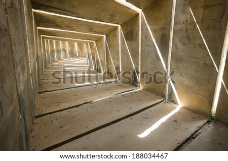 a gloomy concrete tunnel, can be used as a concept regarding depression and destress