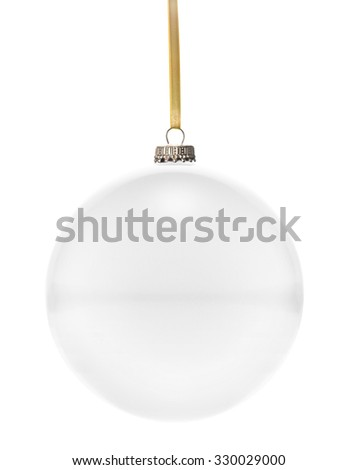 A glossy christmas ball in the national colors of Blank hanging on a golden string isolated on a white background.(series) - stock photo