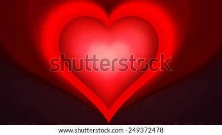 A glowing heart for Valentines Day
