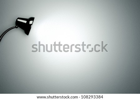 a glowing lamp background - stock photo