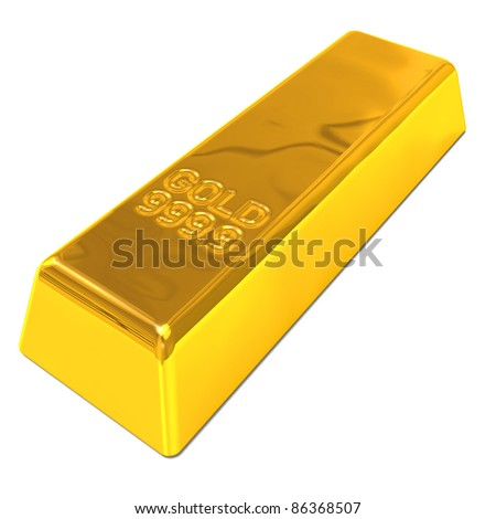 A Gold Bar - stock photo