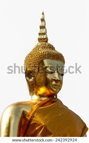 a gold statue of Buddha in thailand
