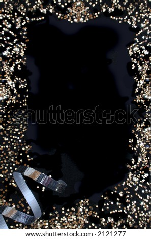A golden and white abstract background over black