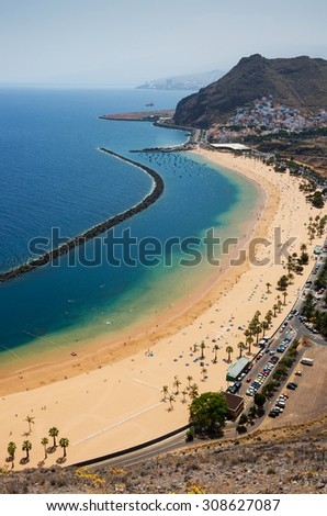 A golden beach, Tenerife, Canary Islands.