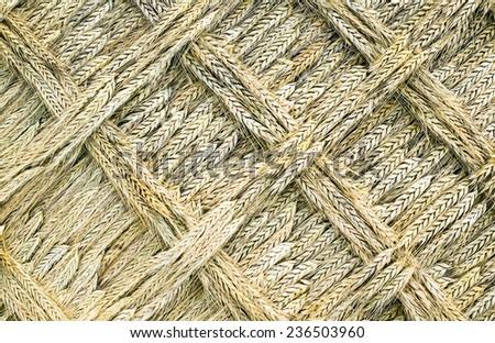 A golden wead weave art in autumn - stock photo
